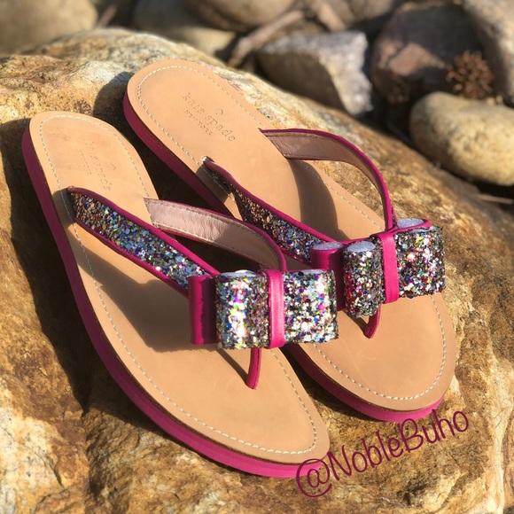 da1efb3663a2 kate spade Shoes - Kate Spade Icarda Glitter Bow Sandals